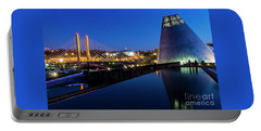 Museum Of Glass At Blue Hour Portable Battery Charger