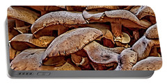 Portable Battery Charger featuring the photograph Mushroom Colony by Bill Gallagher
