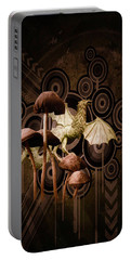 Portable Battery Charger featuring the digital art Mushroom Dragon by Richard Ricci