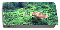 Mushroom In The Green Wood Portable Battery Charger