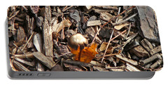 Mushroom With Autumn Leaf Portable Battery Charger