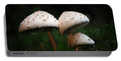 Mushrooms In The Morning Portable Battery Charger by Robert Meanor