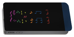 Portable Battery Charger featuring the digital art Music Notes 35 by David Bridburg