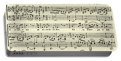 Music Score For Erlaf See By Schubert Portable Battery Charger
