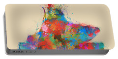 Portable Battery Charger featuring the digital art Music Strikes Fire From The Heart by Nikki Marie Smith
