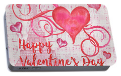 Musical Valentine Portable Battery Charger by Debbie DeWitt