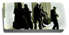 Portable Battery Charger featuring the photograph Musicians In The Park by Sandy Moulder