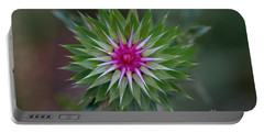 Musk Thistle Bloom Portable Battery Charger by John Roberts
