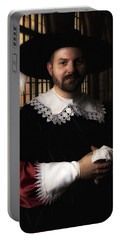 Musketeer In The Old Castle Hall Portable Battery Charger