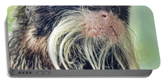 Mustache Monkey Watching His Friends At Play Portable Battery Charger