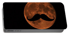 Mustache Moon Portable Battery Charger