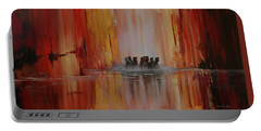 Portable Battery Charger featuring the painting Mustang Canyon by Karen Kennedy Chatham