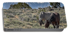 Mustangs In The Sierra Nevada Mountains Portable Battery Charger