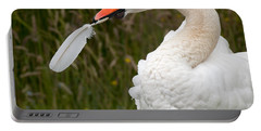 Mute Swan With Feather Portable Battery Charger