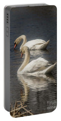 Portable Battery Charger featuring the photograph Mute Swans by David Bearden