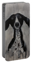 Mutts Original Dog Portrait Painting Portable Battery Charger