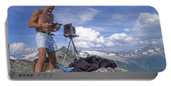 Portable Battery Charger featuring the photograph Mxx133 Ed Cooper On Hidden Lakes Peaks Wa by Ed Cooper Photography