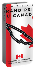 My 2017 Grand Prix De Canada Minimal Poster Portable Battery Charger