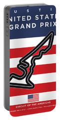 My Austin Usa Grand Prix Minimal Poster Portable Battery Charger