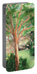 Portable Battery Charger featuring the painting My Backyard by Vicki  Housel
