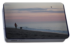 Portable Battery Charger featuring the photograph My Best Friend And The Beach by Robert Banach
