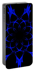 Portable Battery Charger featuring the drawing My Blue Flower by Sheila Mcdonald
