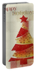 Portable Battery Charger featuring the digital art My Christmas Tree 02 - Happy Holidays by Aimelle