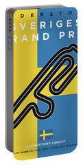 My F1 Anderstorp Race Track Minimal Poster Portable Battery Charger
