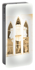 Portable Battery Charger featuring the photograph My Fathers Church Window by Lenore Senior