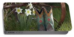 Portable Battery Charger featuring the photograph My Favorite Boots by Benanne Stiens