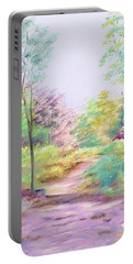 Portable Battery Charger featuring the painting My Favourite Place by Elizabeth Lock