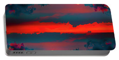 Portable Battery Charger featuring the photograph My First Sunset- by JD Mims