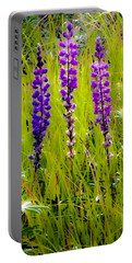 My Five Lupines Portable Battery Charger by Jennifer Lake