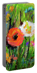 Portable Battery Charger featuring the photograph My Flower Garden In Fall by Haleh Mahbod