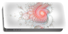 Portable Battery Charger featuring the digital art My Fractal Heart by Fran Riley