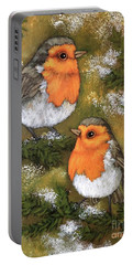 My Friends Robins Portable Battery Charger by Inese Poga