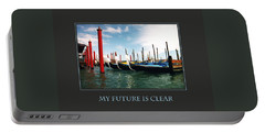Portable Battery Charger featuring the photograph My Future Is Clear by Donna Corless