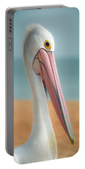 Portable Battery Charger featuring the photograph My Gentle And Majestic Pelican Friend by T Brian Jones