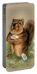 Portable Battery Charger featuring the painting My Gift For You by Veronica Minozzi