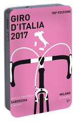My Giro Ditalia Minimal Poster 2017 Portable Battery Charger by Chungkong Art