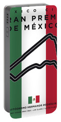 My Gran Premio De Mexico Minimal Poster Portable Battery Charger