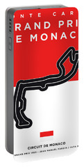 My Grand Prix De Monaco Minimal Poster Portable Battery Charger