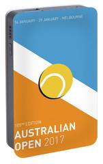 My Grand Slam 01 Australian Open 2017 Minimal Poster Portable Battery Charger by Chungkong Art