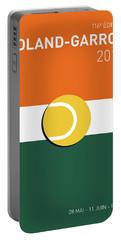 My Grand Slam 02 Rolandgarros 2017 Minimal Poster Portable Battery Charger by Chungkong Art