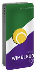 My Grand Slam 03 Wimbeldon Open 2017 Minimal Poster Portable Battery Charger