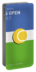 Portable Battery Charger featuring the digital art My Grand Slam 04 Us Open 2017 Minimal Poster by Chungkong Art