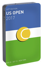 My Grand Slam 04 Us Open 2017 Minimal Poster Portable Battery Charger by Chungkong Art