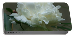Portable Battery Charger featuring the photograph My Little Peony by Barbara S Nickerson