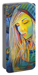 Portable Battery Charger featuring the painting My Love by Joshua Morton