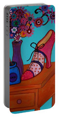 Portable Battery Charger featuring the painting My Love by Pristine Cartera Turkus